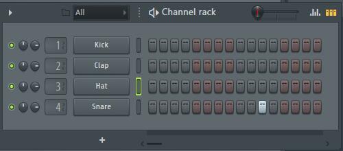 FL Studio 水果 Pattern编辑窗口