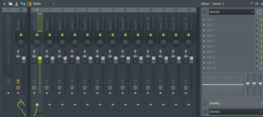 fl studio mixer窗口