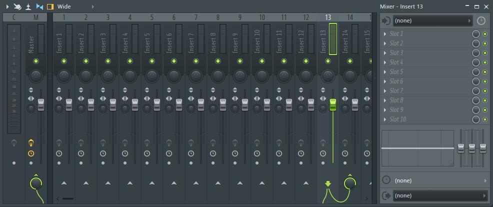 FL Studio Mixer混音器