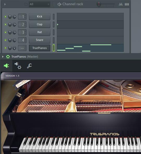 FL Studio添加truepianos插件